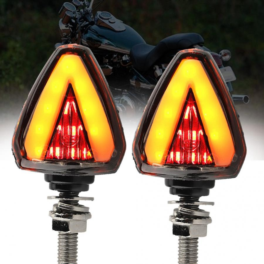 Universal Bike LED Turn Signal Directional Indicator Blinker Light Lamp w// Horn
