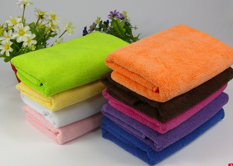 12 Pieces  25*25 Cm Microfiber Bath Towel Clean Face Body Set A34-12PC