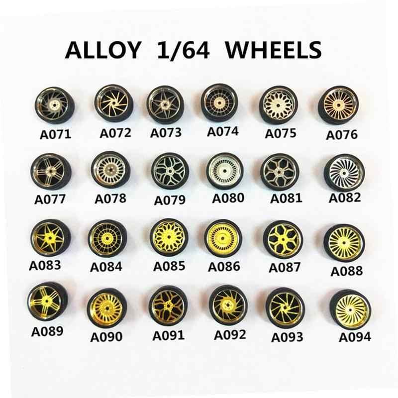 1: 64 модели модифицированные шины Diecasts 4 колеса + 2 оси + 4 концевые колпачки колесо с литым диском из сплава резиновые транспортные средства общая модель автомобиля сменный аксессуар
