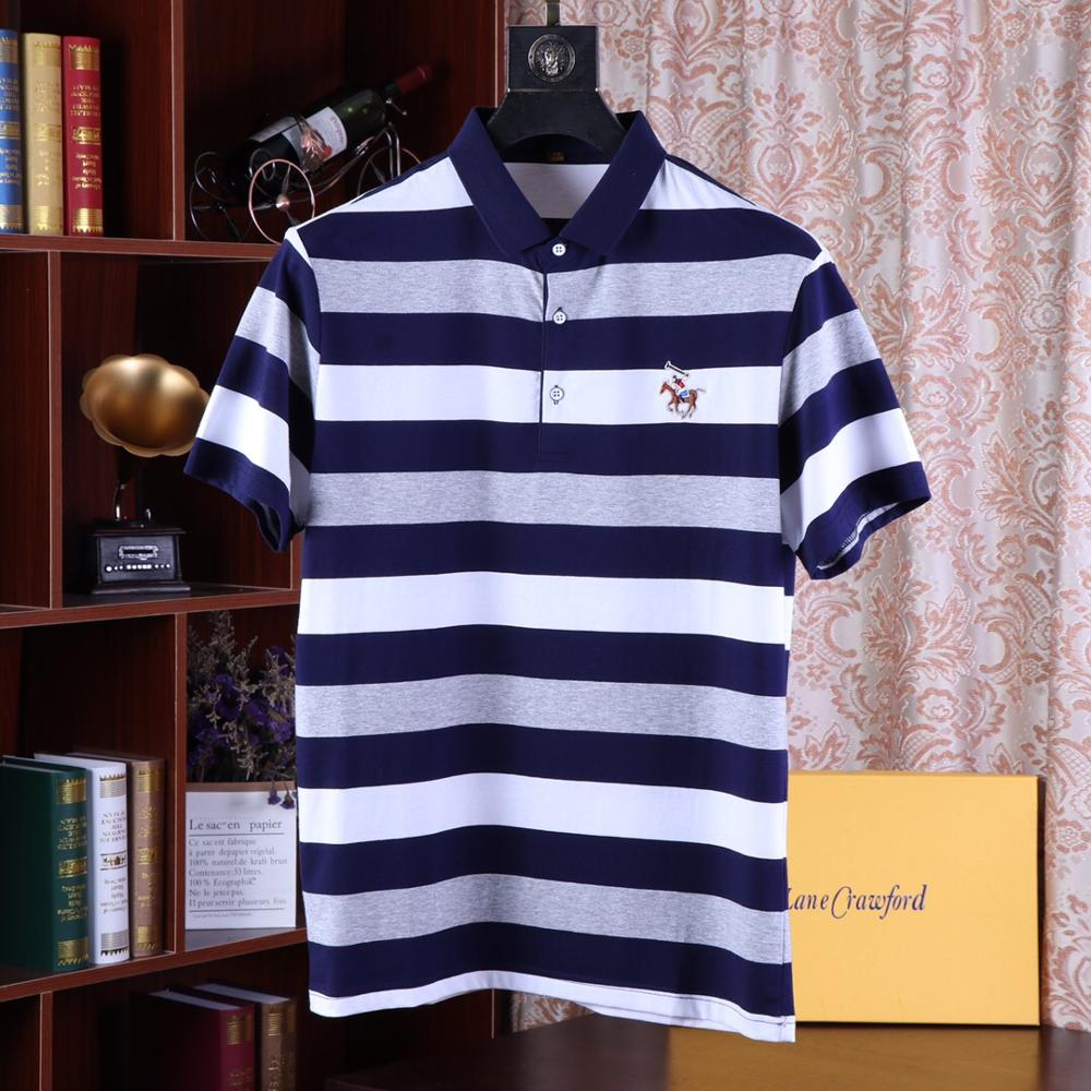 2019 Brand New arrival Men striped Summer   Polo   Shirt High Quality short sleeve jerseys biger Mens   polo   Shirts designer homme
