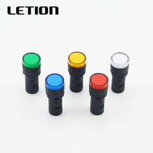 1 шт. 12 В 24 В 220 В 16 мм светодиод для монтажа на панель индикатор питания сигнальный светильник лампа красный синий белый зеленый желтый LETION AD16-16C