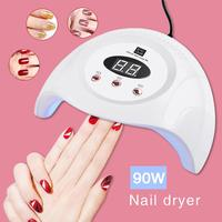 90W UV Lamp LED Nail Lamp Nail Dryer For All Gels Polish With 60/90 / 99s Timer Manicure Tool Gel Light