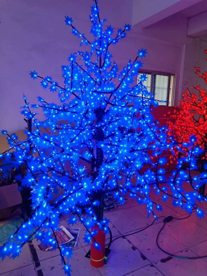 Us 269 1 10 Off 538 Leds 5ft Height Blue Led Maple Tree Led Christmas Party Brithday Holiday Tree Light Waterproof 110 220vac Outdoor Use In Holiday