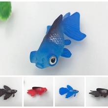 5 шт. мини резиновая рыбка для аквариума Высокое качество искусственная плавающая маленькая рыбка Длина 7,5 см для украшения аквариума
