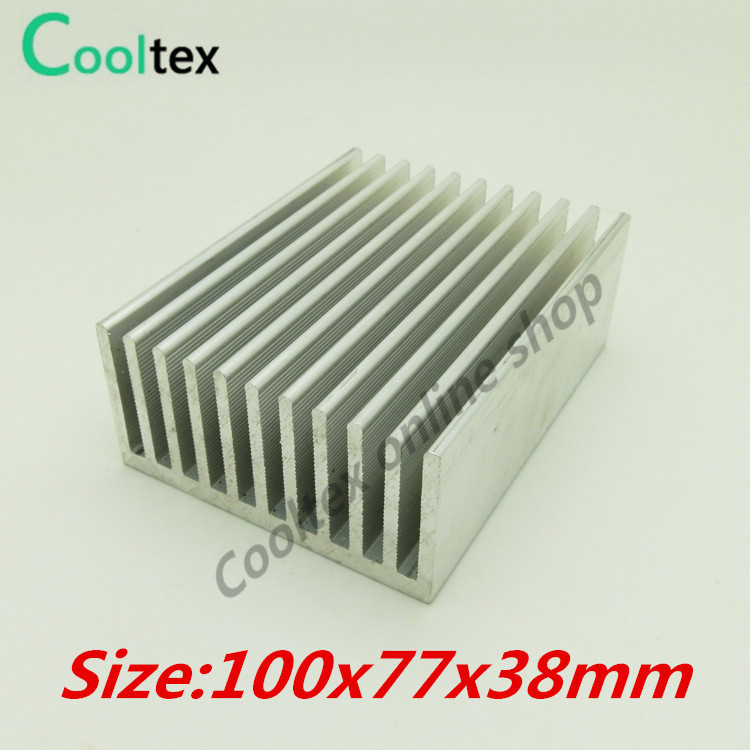 (High power) 100x77x38mm Extruded Aluminum Heat Sink heatsink  radiator cooler for  LED power amplifier Electronic cooling цена и фото