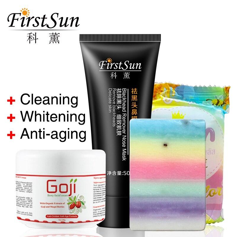 Pure OMO Soap Thailand Rainbow Plus White Whitening Soap Goji Cream face Whitening Anti Aging Cream Black Head Remover Nose Mask ...