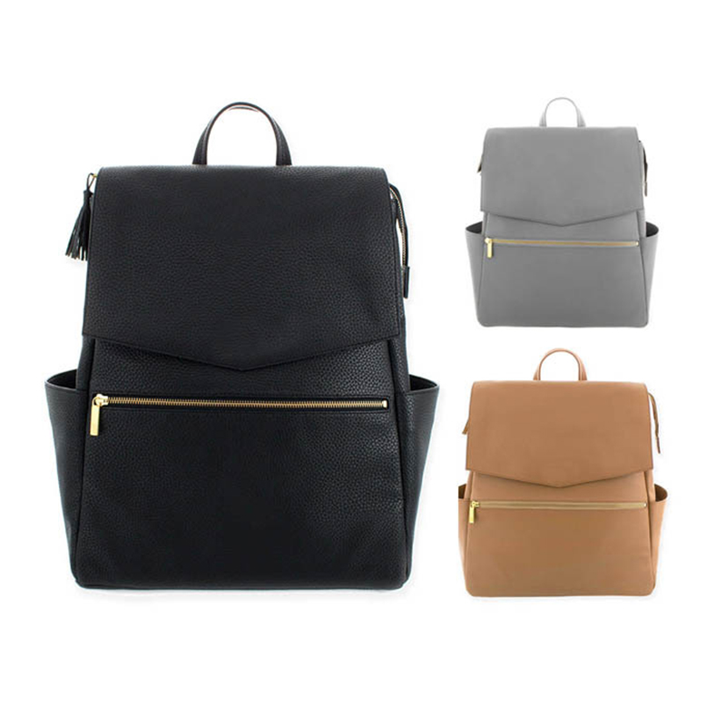 PU Leather Diaper Bag Backpack+Changing Pad+Stroller Straps Mummy Maternity Nappy Nursing Bag Women Fashion Travel Bag Backpack