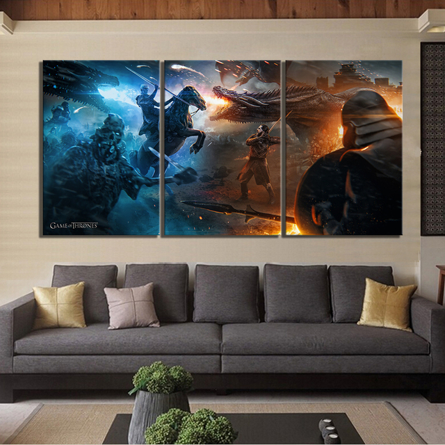"3 Piece ""Game of Thrones"" Artwork Canvas  2"