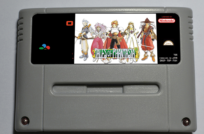 TALES OF PHANTASIA - RPG Game Cartridge Battery Save EUR Version 16 bit 46 pin