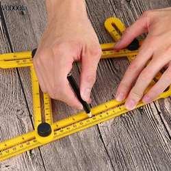 VODOOL ABS складной Multi Угол Линейка Инструмент 4 Гибкие измерительный прибор плитка измерительный угол измерения