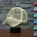 MLB Chicago White Sox Baseball Equipe Cap Ilusão Luz Da Noite 7 Mudando A Cor da Lâmpada de Mesa 3D Chapéu Visual Ligthing Decoração Lampara