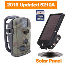 Free shipping! 8GB 5210A 12MP Hunting Scouting Trail Camera DVR 940nm Low Glow 6V Solar Panel