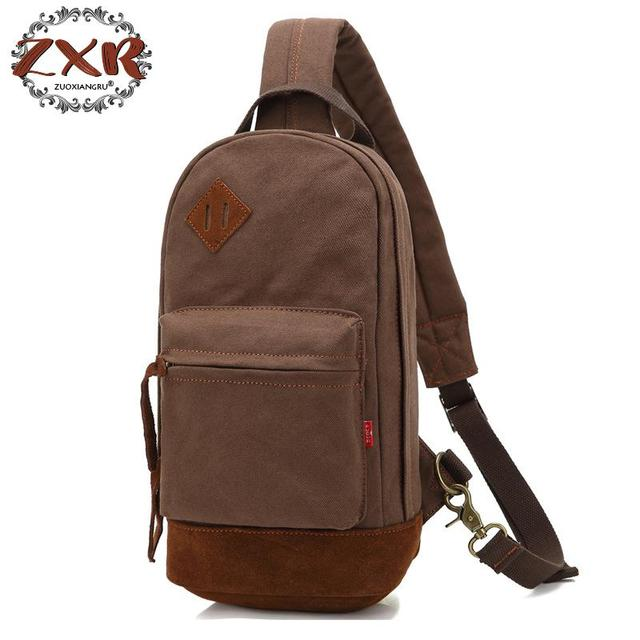 50f7496fa4e0 Man Shoulder Bag Men s Canvas Messenger Bags Chest Sling Bag Male Casual  Travel Military Larger Sling Chest Pack Bag