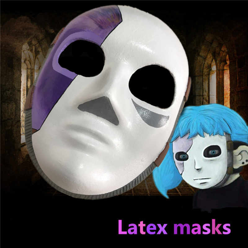 Game rolec Sally Face Cosplay Mask Sally Latex Masks and wig sell Sallyface Cosplay Wig props Accessories Free shipping