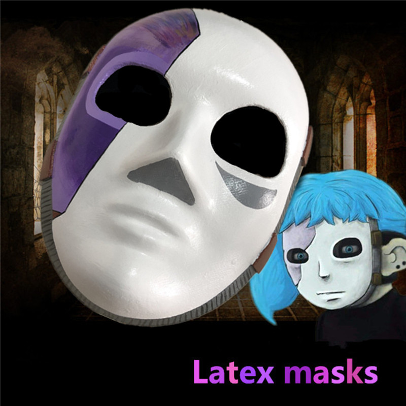 Game role Sally Face Cosplay Mask Sally Latex Masks and wig sell Sallyface Cosplay Wig props Accessories Free shipping