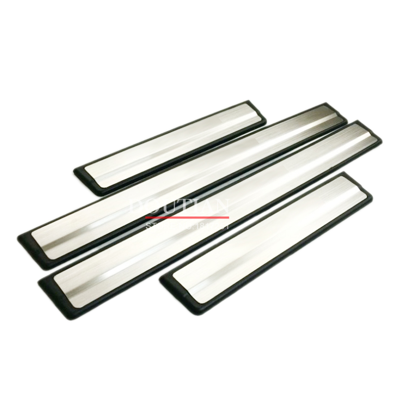 Kualitas tinggi stainless steel sill Lecet Pelat Welcome Pedal 4 pcs Untuk Rogue X-trail t32 Mobil-Styling Aksesoris 2018 2017