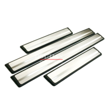 цена на High quality stainless steel door sill Scuff Plate Welcome Pedal 4pcs For Rogue X-Trail 2014 2015