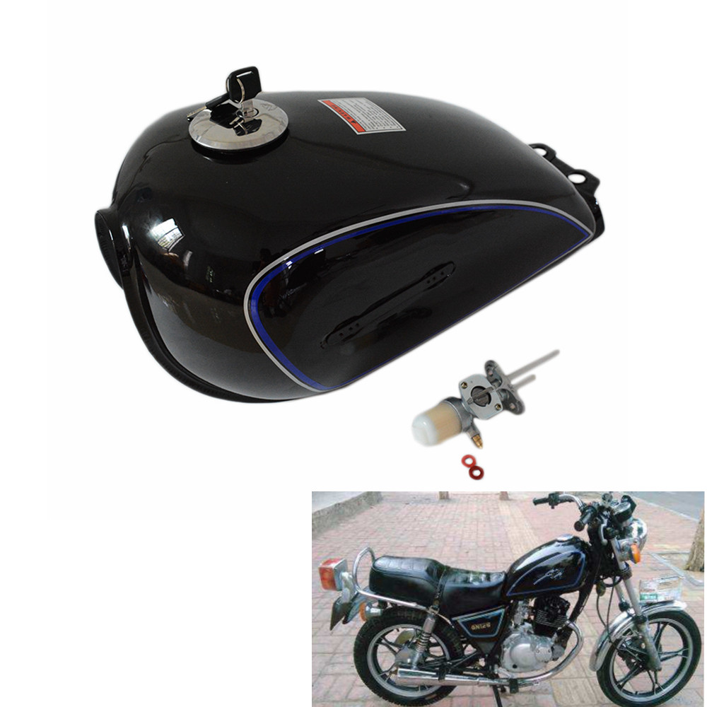 Universal Motorcycle Fuel Gas Tank 6L 2 4Gal Oil Box with Iron Cap Cafe Racer For
