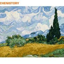 Chenistory известная картина diy живопись по номерам пейзаж