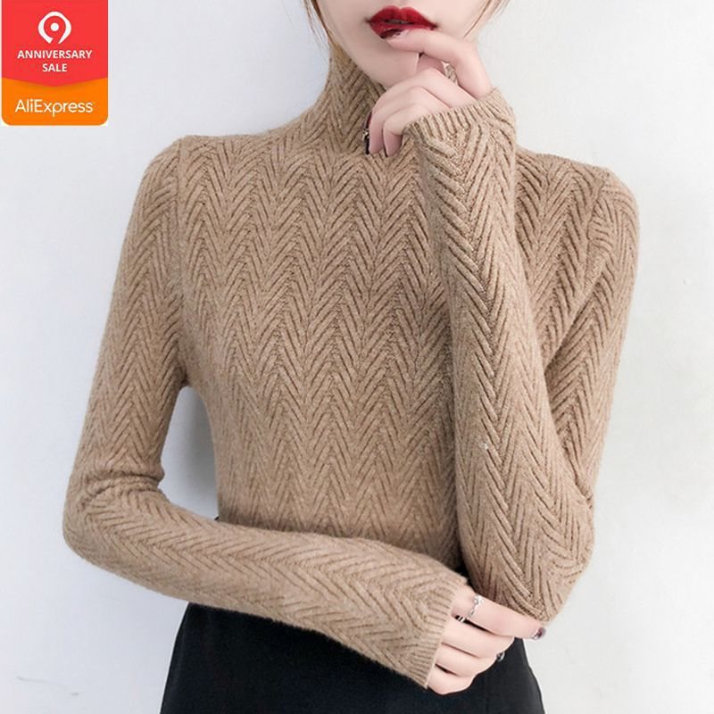 Underwear Woman Autumn And Winter 2019 New Slim Bottom Shirt Long Sleeve Sleeve Tight Knitted Shirt Thickening