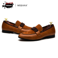 Men Wedding Party Dress Shoes Men's Banquet Loafers Genuine Patent Leather And Suede Leather Patchwork With Bow Tie