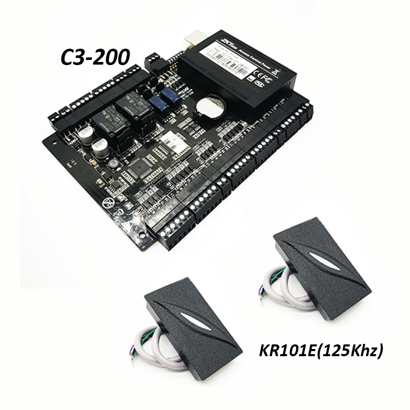 ZK C3 200 Tcp Ip Rfid Card Access Control System Two door Security Access Controller Double