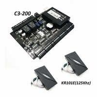 ZK C3-200 Tcp/Ip の Rfid カードアクセス制御システム 2 ドアセキュリティアクセスコントローラダブルドア制御パネル KR101 リーダー
