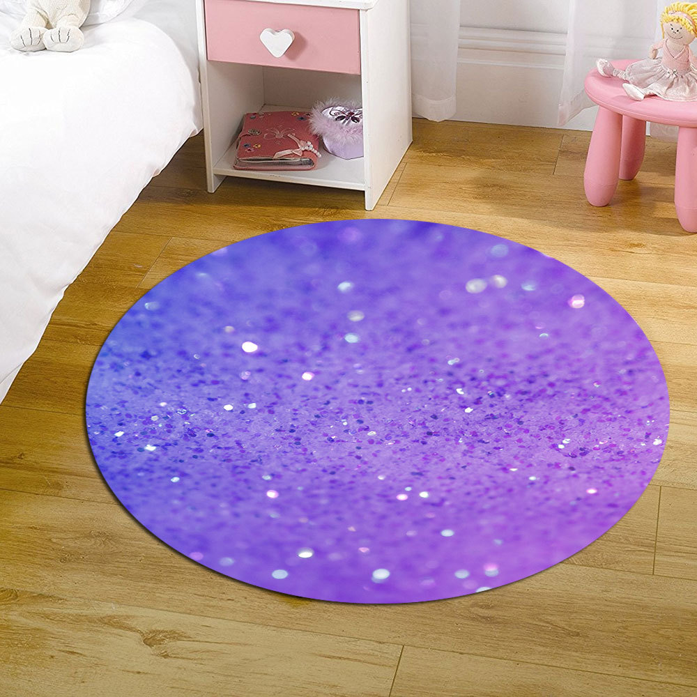 3D Creative Printed round rug Multi-Size Child room Computer chair Mats Kids Parlor Bedroom play Carpets for Living Room Decor
