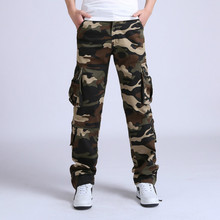 Men Cargo Pants Tactical Loose Military Casual Camouflage Cotton Trousers Joggers Pantalon Homme Combat
