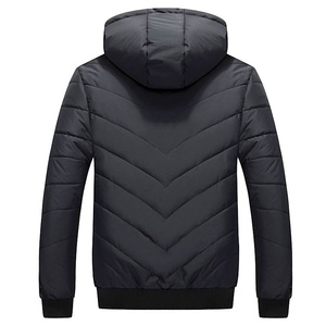 Image 4 - Winter Men Jacket Parka Warm Fleece Casual Hooded Coat Mens Cotton Slim Thick Down Jacket Male Zipper Outwears Casacos Masculino