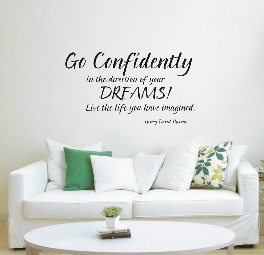 Go Confidently In The Direction Of Your Dream Wall Art Sticker Quote Decoration Decals 3