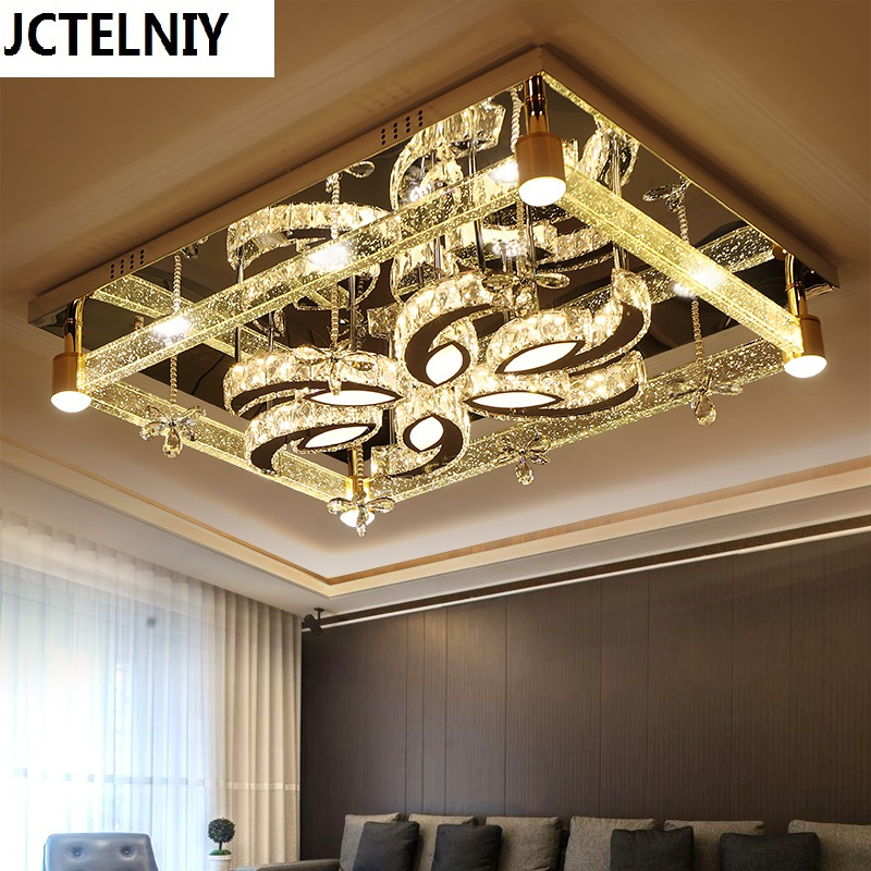 Modern ceiling light rectangle bubble column crystal lamp bubble column led lighting dimmer