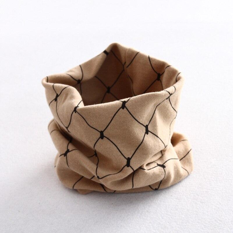 Осенне-зимний детский хлопковый шарф для девочек и мальчиков теплые шарфы Детский круглый кольцевой ошейник Детский шарф детский волшебный шейный платок - Цвет: grid 3