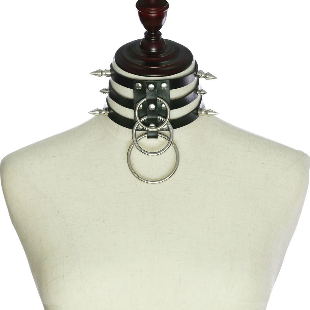 Goth Dark Vintage Necklaces Pu Silver Choker Gothic Fashion Necklace 2019 Women's Jewelry Rivet Harajunku Punk Necklace Woman 1