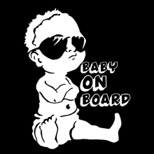 BABY ON BOARD Car Sticker Window Decal Exterior Car Styling Lovely Funny JDM Car Sticker For Window Bumper FUNNY Vinyl Decal simply made in japan car sticker car styling jdm drift barcode vinyl decal for car stickers