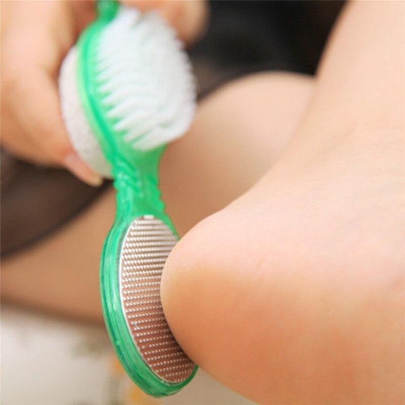 2018 wear Foot exfoliating dead skin corns calluses sided bath rub feet Foot stone feet brush