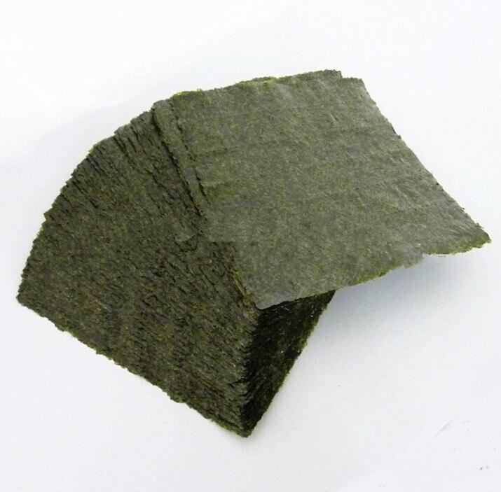 100 шт. суши нори морские водоросли, оптовая продажа с фабрики, качество AAA, темно-зеленая вторичная выпечка Нори Суши algues, Самые продаваемые Нори Суши-1