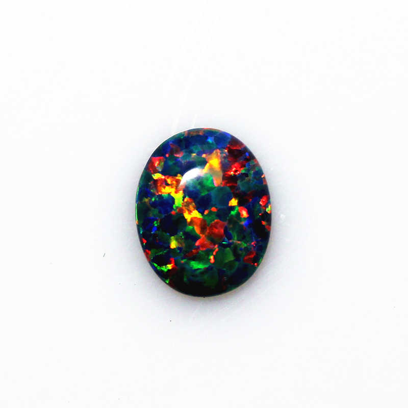 black opal stone loose beads gemstones oval shape flat base cabochon created gemstone for jewelry making DIY precious stones