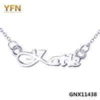 100 Real Pure 925 Sterling Silver Name Necklace Personalized Jewelry Katie Clavicle Necklace For Women GNX11438