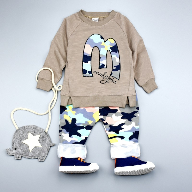 Kids Clothes Christmas Boys Girls Clothes Casual Toddler Fleece Sports Camouflage Tops+Pants clothing Sets baby clothing 5