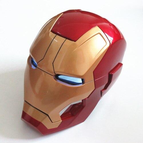 Movie Figure Cosplay 1:1 Avengers Iron man MK42 Helmet light Collectors Auto Open ABS Action Figure Toys Christmas Gift Model