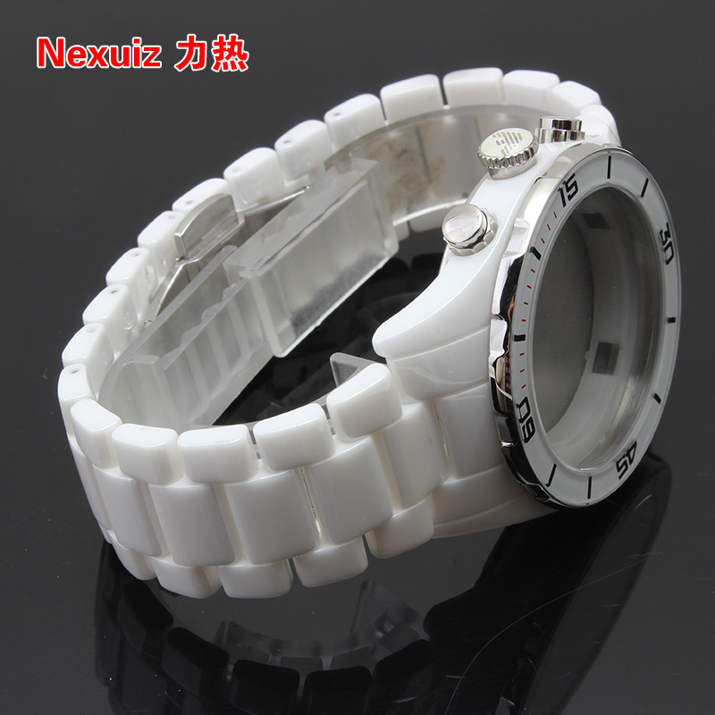 NEW Watchbands,High Quality Ceramic Watchband white Diamond Watch fit AR1424  Man watches Bracelet  WATCHBAND new watchbands 18mm high quality ceramic watchband black diamond watch fit ar1412 women watches bracelet watchband
