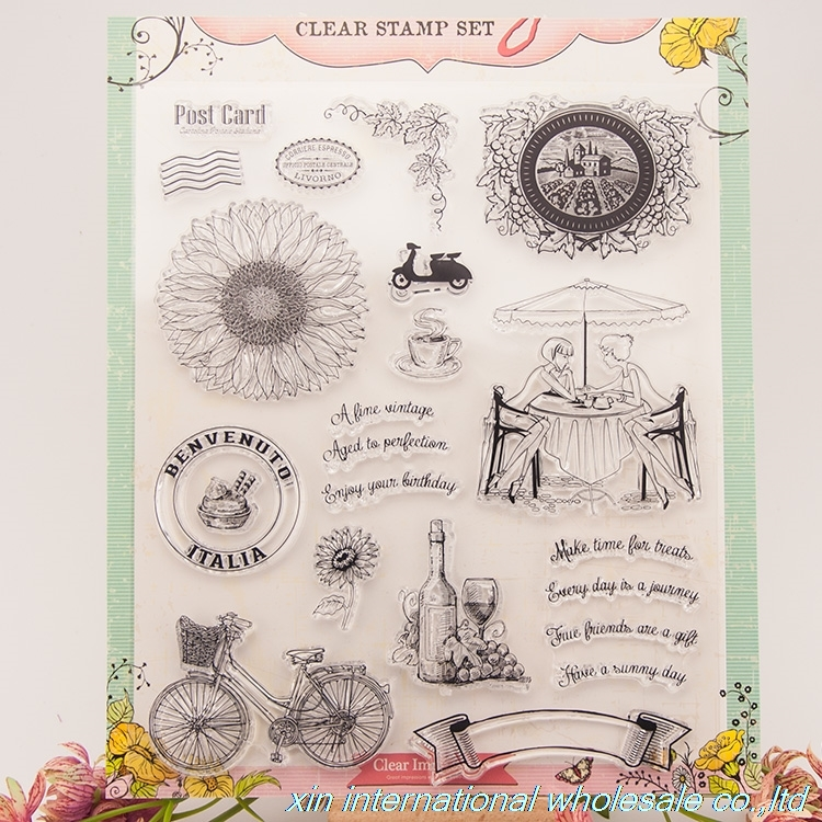 embossing folders encre scrapbooking ACRYLIC VINTAGE clear stamps FOR PHOTO SCRAPBOOKING stamp clear stamps for scrapbooking 48 bird big size scrapbook diy farm sellos carimbo acrylic clear stamps for photo timbri scrapbooking stamp