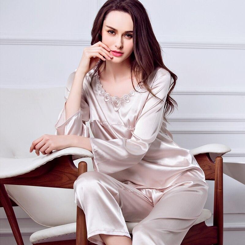 Popular Luxury Silk Pajamas-Buy Cheap Luxury Silk Pajamas lots ...