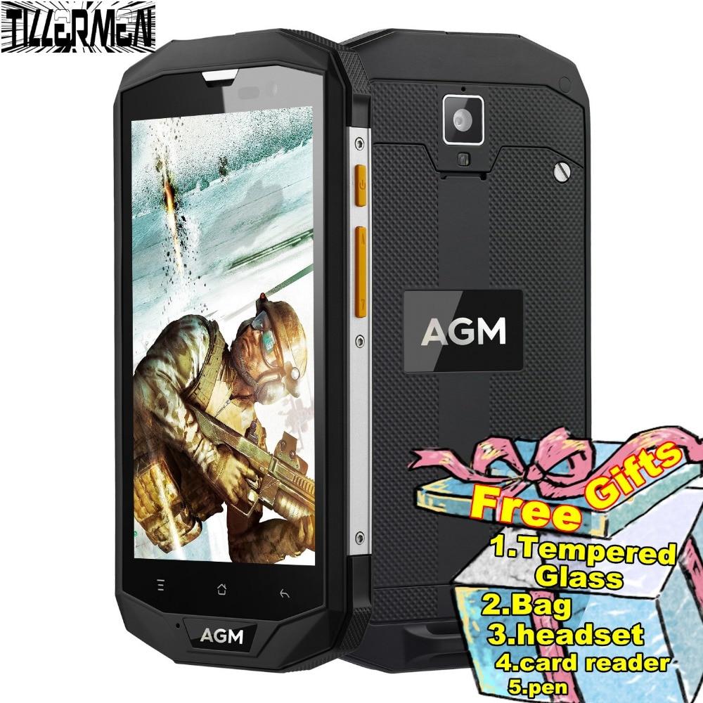 """Цена за Оригинал agm a8 ip68 водонепроницаемый телефон противоударный ip68 смартфон 3 ГБ RAM LTE 4 Г Quad Core Android 5.1 IPS WCDMA 5 """"телефон 6"""