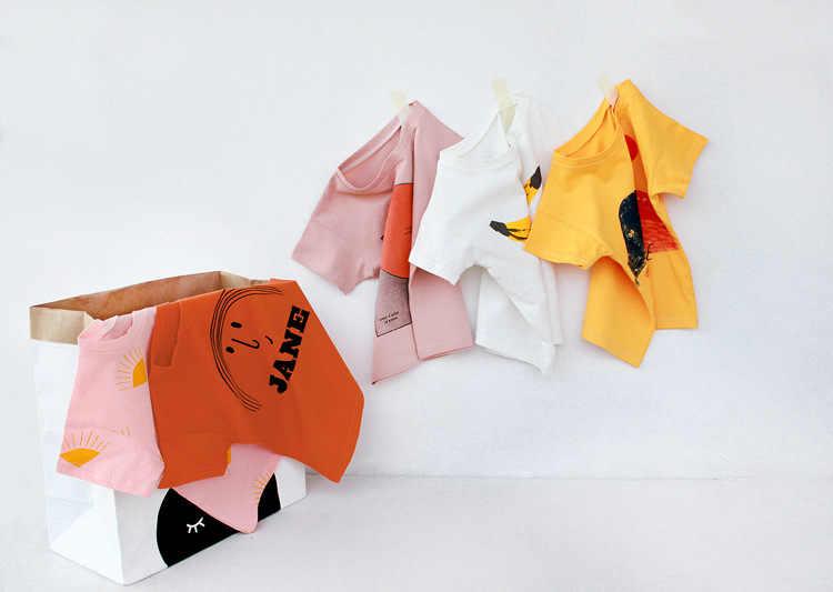 Camisetas para niños ropa para niños serie Bobo dibujos animados de verano de algodón para niñas camiseta suelta camisetas casuales camisetas ropa para niños 1-8Y