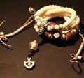 Diseñador tibetana Mala Corozo Nut Bodhi semillas Mala de los granos del rosario tibetano oración budista 108 Beads ágata