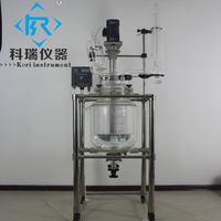 Durable 20L Lab Apparatus Vacuum Pilot Stirred glass reactor From China Supplier
