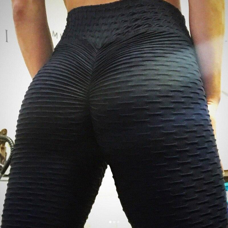 2019 Hayoha Novas Leggings Estilo Solavancos Colocar Dobra Hip Elástico Cintura Alta Legging Respirável Calças Slim