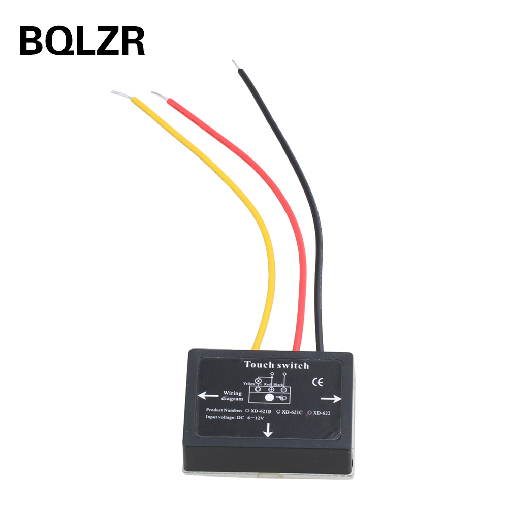 BQLZR XD-622 On/Off Touch Switch Sensor For Bathroom Mirror LED Lamp light mirror touch switch bathroom smart mirror switch led touch controller on mirror surface hot selling for hotel or bathroom